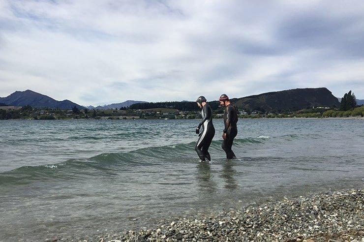 Into the lake by Andy Millard Racers Edge triathlon shop Wanaka min - Into the Lake
