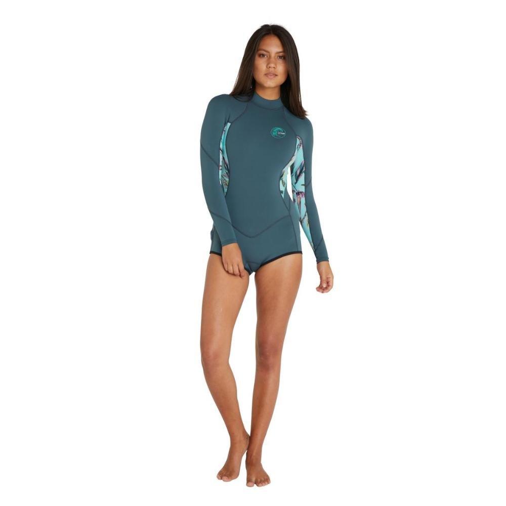 Women's Bahia Back Zip Long Sleeve Mid 2mm Springsuit