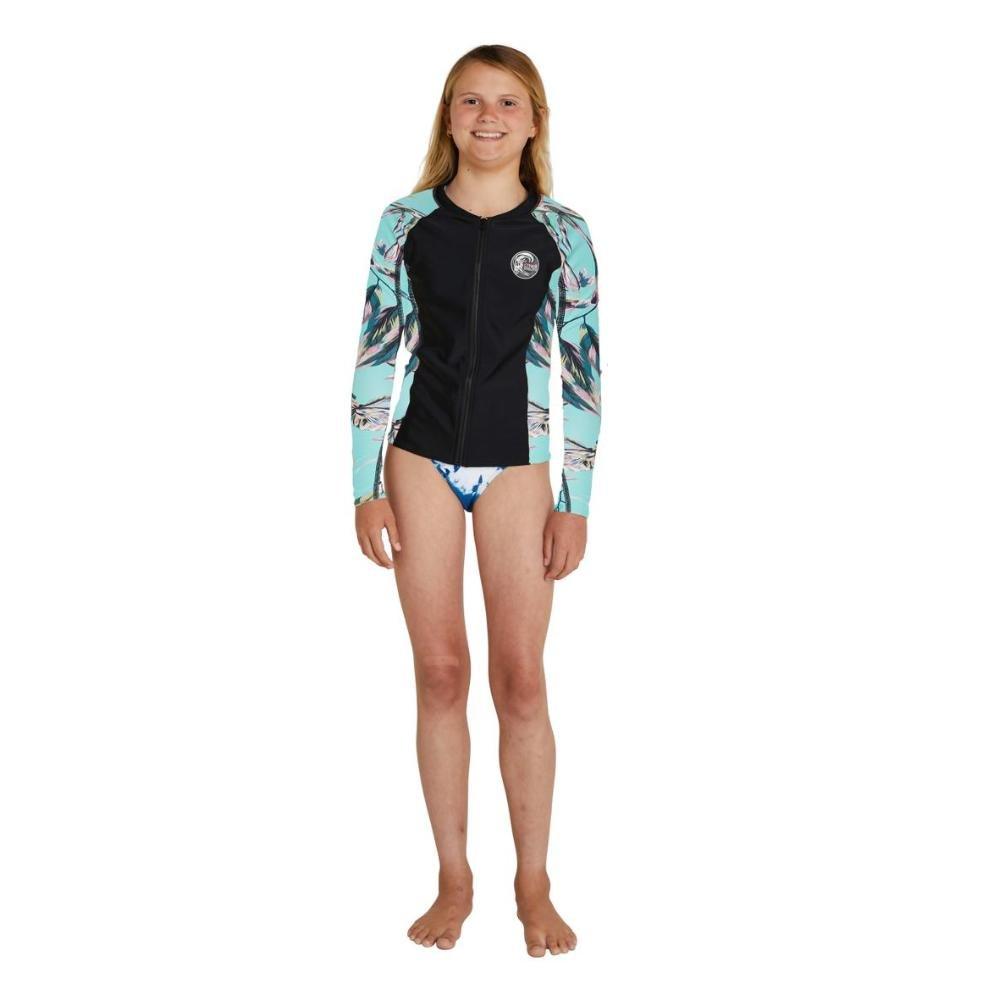 Girls Bahia Full Zip Long Sleeve Rash Vest